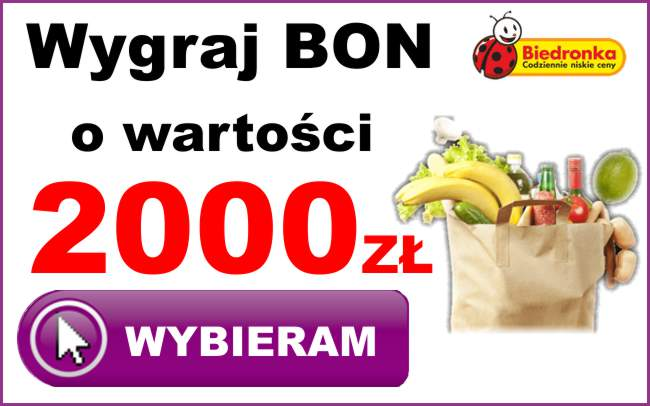 wygraj bon o wartosci 2000zl