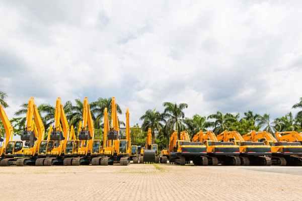 Maszyny w firmie budowlanej